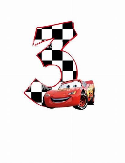 Birthday Cars Disney Clipart Mcqueen Printable Happy