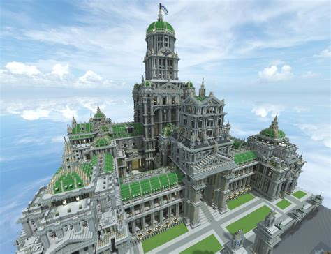 minecraft castle builds creations amazing palace winter castles imperial place snow massive buildings stone project cool structures