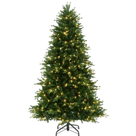 a noble or douglas fir 7ft led tree 7 5 ft pre lit led noble fir artificial tree with color changing lights