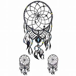 Dessin Atrape Reve : tatouage ephemere attrape reves dream catcher ~ Farleysfitness.com Idées de Décoration