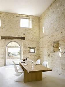 le mur en pierre apparente en 57 photos With cuisine mur en pierre