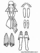 Puppet Coloring Pages Puppets Paper Pirate Dolls Grace Sheets Cut Pirata Marionette Crafts Colorear Marioneta Piratas Piraten Colouring Trekpop Proyecto sketch template