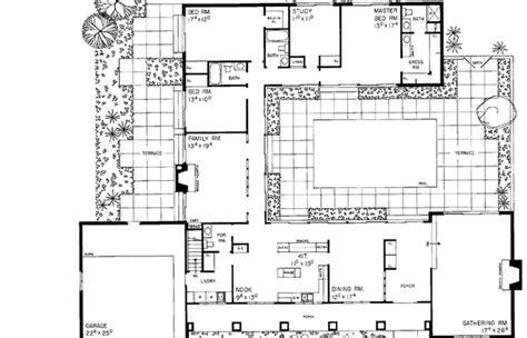 single story mediterranean house plans courtyard hacienda floor  baby nursery spanish