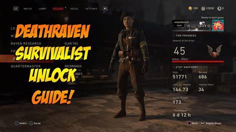 How To Unlock The Deathraven Survivalist In The Darkest