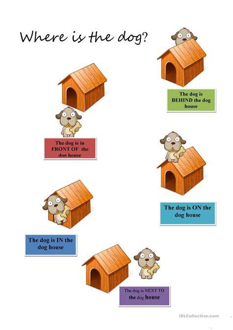 prepositions  kids worksheet  esl printable