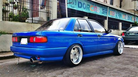 Sentra B13 On Borbet Type A Wheels