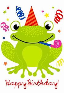 Cute Happy Birthday Frog   Birthday fun   Pinterest ...