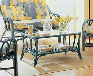 Table Basse De Salon En Rotin Brin D39Ouest