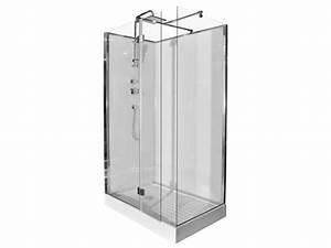 Installation D Une Cabine De Douche : douche l 39 italienne laiva pluie tropicale et douchette ~ Premium-room.com Idées de Décoration