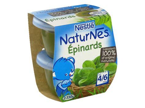 petits pots naturnes epinards des 6 mois 2x130g tous les produits repas b 233 b 233 prixing