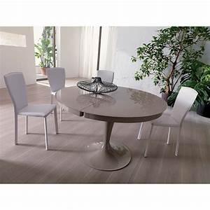 Tables Rondes Extensibles : table ronde extensible eclipse verre meubles et atmosph re ~ Teatrodelosmanantiales.com Idées de Décoration