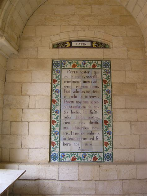 pater noster en file jerusalem pater noster church pater in jpg wikimedia commons