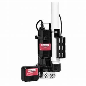 Shop Utilitech 0 5-HP Cast Iron Submersible Sump Pump at
