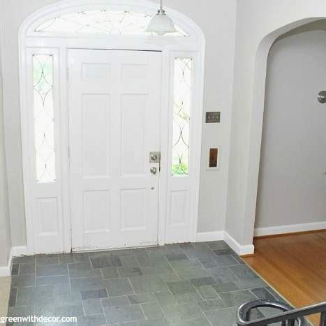 painted foyer agreeable gray green  decor