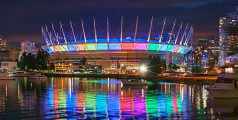 bc place stadium  disappear  wall  towers