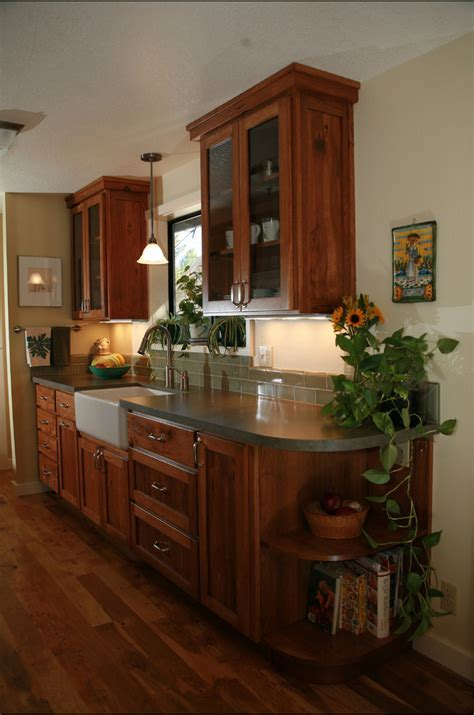 small galley kitchen remodel Spaces Craftsman with Bend