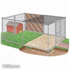 How to build a chain link kennel for your dog the family for Cheap dog pens for outside
