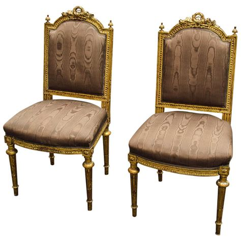 pair of louis xvi style chaises at 1stdibs