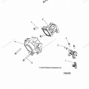 Polaris Atv 2016 Oem Parts Diagram For Engine  Throttle Body  U0026 Fuel Rail