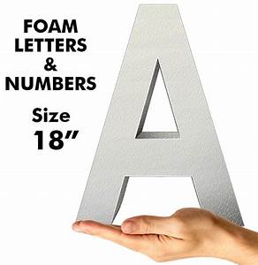 letters numbers 18quot dino rentos studios inc With small foam letters