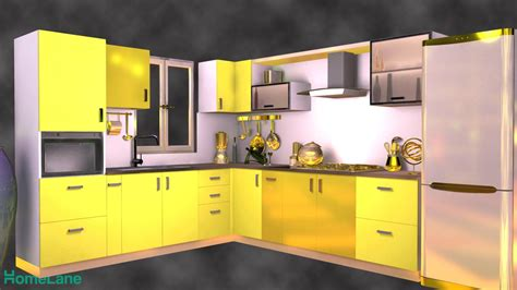 shaped contemporary modular kitchen