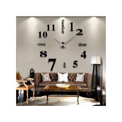 generic stick  wall clock diy large modern design decal