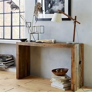 emmersontm reclaimed wood console west elm With west elm emmerson reclaimed wood coffee table