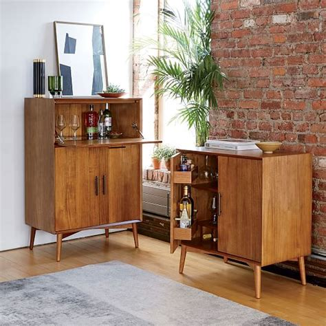 mid century bar cabinet large mid century bar cabinet small west elm