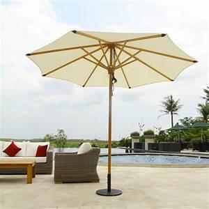 sonnenschirm ocean deluxe 250cm rund sunproof teak mit With französischer balkon mit vintage sonnenschirm
