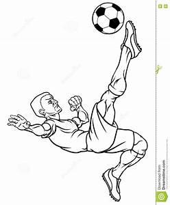 Cartoon Soccer Football Player Stock Vector - Illustration ...