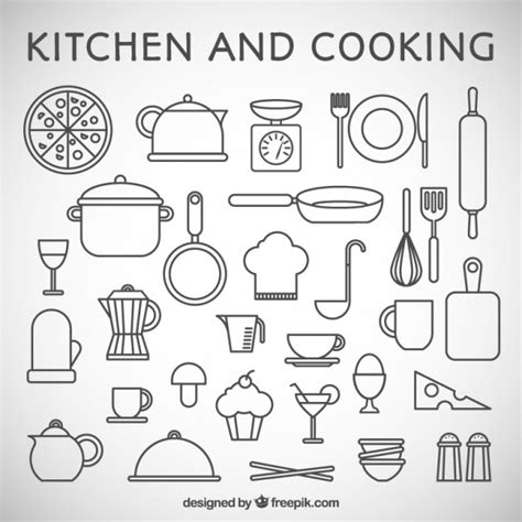 pictogramme cuisine gratuit kitchen and cooking icons vector premium