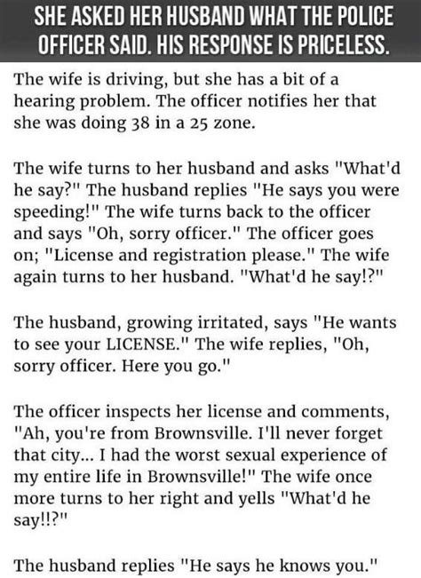 asked  husband   officer   response