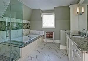 salle de bain en marbre deco maison moderne With meuble de salle de bain avec dessus en marbre