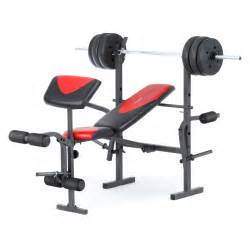 Used Weight Bench Set For Sale by Weider Pro 256 Weight Bench Combo Set At Hayneedle