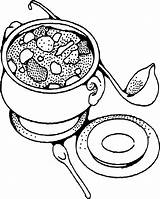 Soup Coloring Stone Printable Vegetable Template Colorir Sopa Clipart Soups Sweeps4bloggers Sheet Sheets Criancas Alphabet Templates Visitar Pintura Tecido Kaynak sketch template