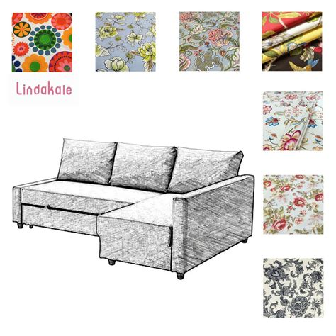 Patterned Sleeper Sofa by Custom Made Cover Fits Ikea Friheten Sofa Bed With Chaise