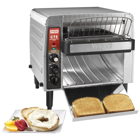 toaster oven commercial waring cts1000b commercial conveyor toaster 208v