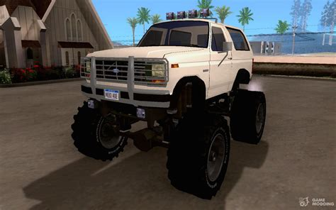 1985 Ford Bronco Monster Truck For Gta San Andreas