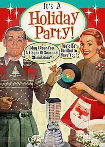 Party Invitation Language Retro Holiday Party Invitation Http Www