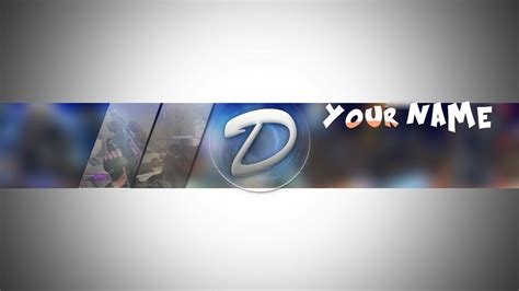 Bannière Format Youtube -customisable-   D3SIGN - Sellfy.com