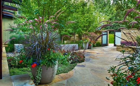Modern Outdoor Kitchen Ideas by Pretty Plant Pots Method Other Metro Traditional Landscape