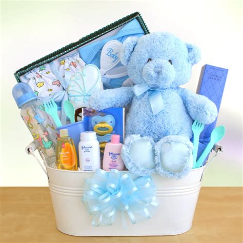 Baby Shower Gift Ideas - new arrival baby boy gift basket gift baskets by