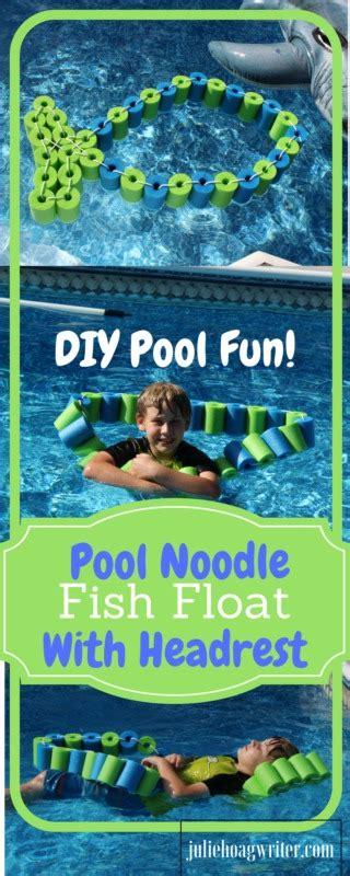 diy pool noodle fish float  headrest  family