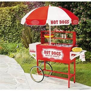 Hot Dog Stand : nostalgia vintage collection carnival hot dog cart with umbrella hdc 701 the home depot ~ Yasmunasinghe.com Haus und Dekorationen