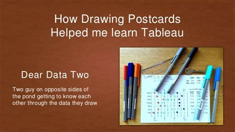 How Drawing Postcards Helped Me Learn Tableau