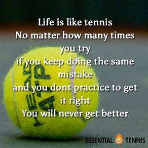 Tennis Quote: Life is like tennis. No matter how many ...