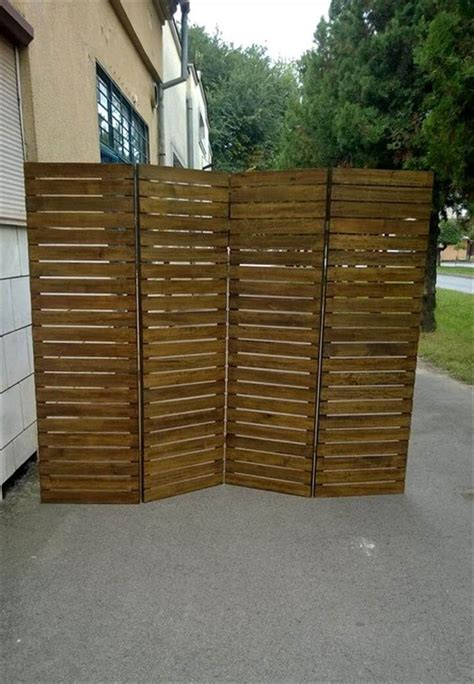 upcycled pallet room divider  pallets