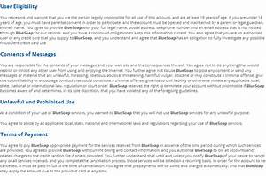 collection terms of service template photos daily With terms and conditions of service template