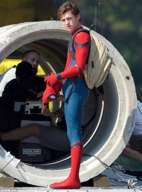 tom holland leaps  action  filming begins  latest