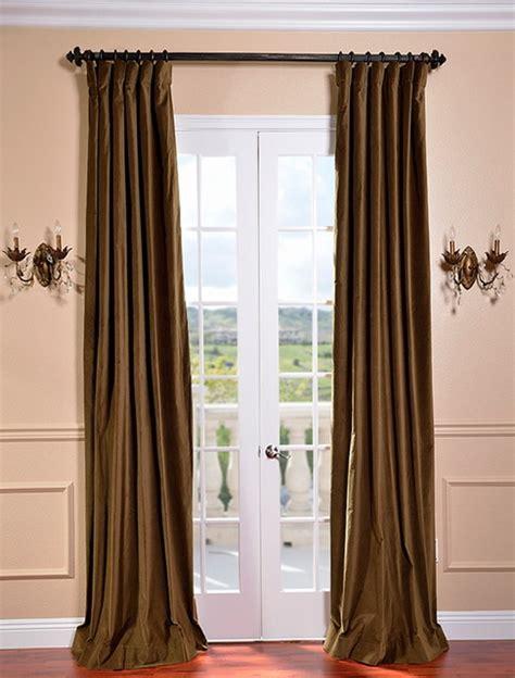 burnt olive vintage cotton velvet curtain traditional